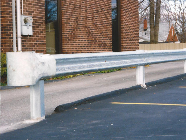 American made steel guard rail on posts by elyria fence