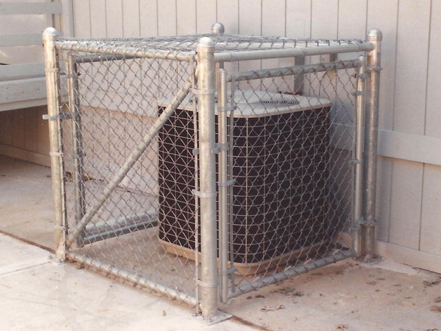 Chain Link Cage For Air Conditioning Unit