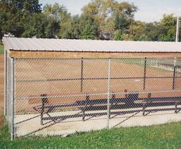 Aluminized Amp Vinyl Coated Baseball Backstop Fencing