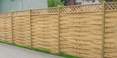 Basketweave Fencing by Elyria Fence