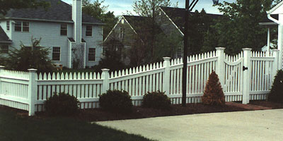 Cedar Picket Fencing by Elyria fence