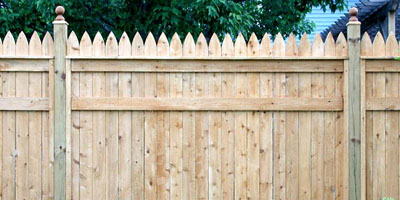 Cedar Privacy Picket Fences by Elyria Fence