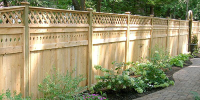 Cedar Privacy Fence by Elyria Fence