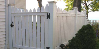 Cedar Wooden Picket Fence Designs by Elyria Fence