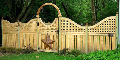 Semi-Privacy Cedar Fence by Elyria Fence