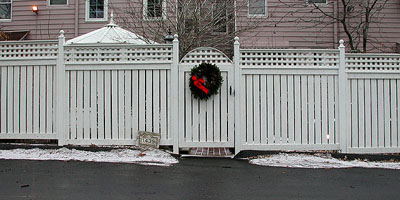 Cedar Semi-Privacy Fence by Elyria Fence