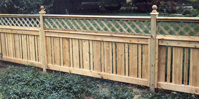 Semi-Privacy Provincial Cedar Fence by Elyria  Fence