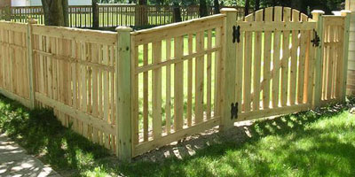 Cedar Spaced Fence by Elyria Fence