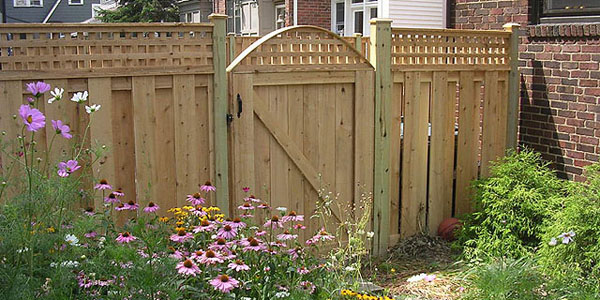 Good Neighbor Cedar Privacy Fencing with lattice by Elyria Fence