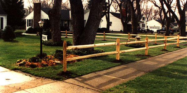2 Rail Split Rail Fence By Elyria Fence