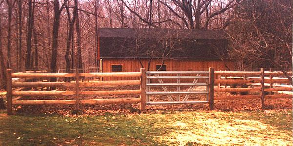 Rail split fencing by elyria fence