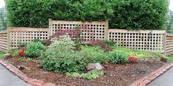 Good neighbor cedar lattice fence for Good neighbor fence plans
