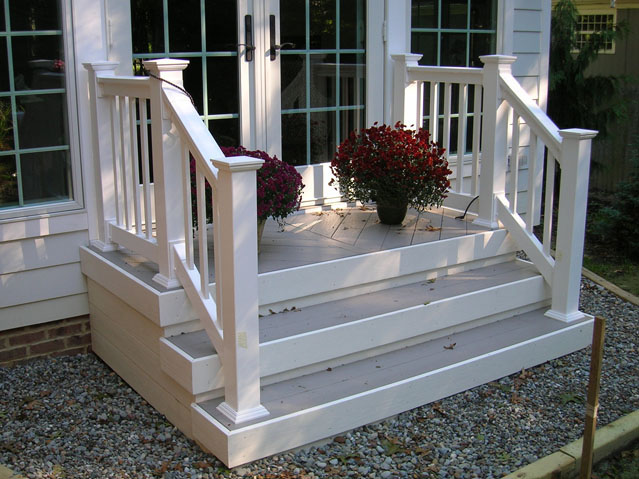 Vinyl Porch Railing On An Azek Composite Porch