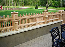 White Cedar Wood Picket Fence