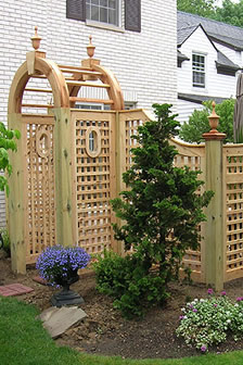 Good Neighbor Square Lattice Fence by Elyria Fence