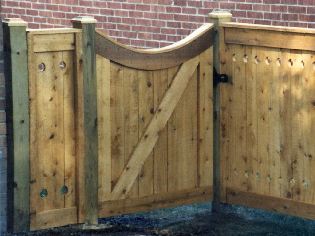 Wood Fence Door Design fencefence gate design ideas beautiful arched fence gate wooden fence gates designs wood fence Square Lattice Wood Fence With Arched Square Lattice Gate By Elyria Fence