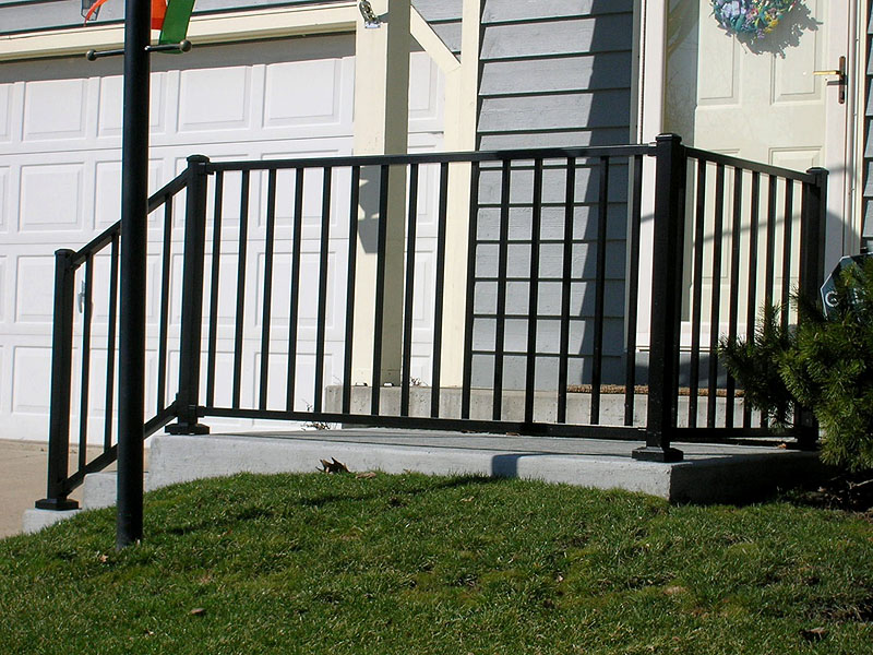 Ornamental Aluminum Iron Porch Railing By Elyria Fence