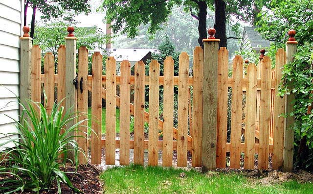 Picket Fence Gate Plans How To Build A Picket Fence Double Gate