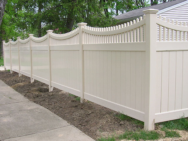 Vinyl privacy fence design ideas woodideas