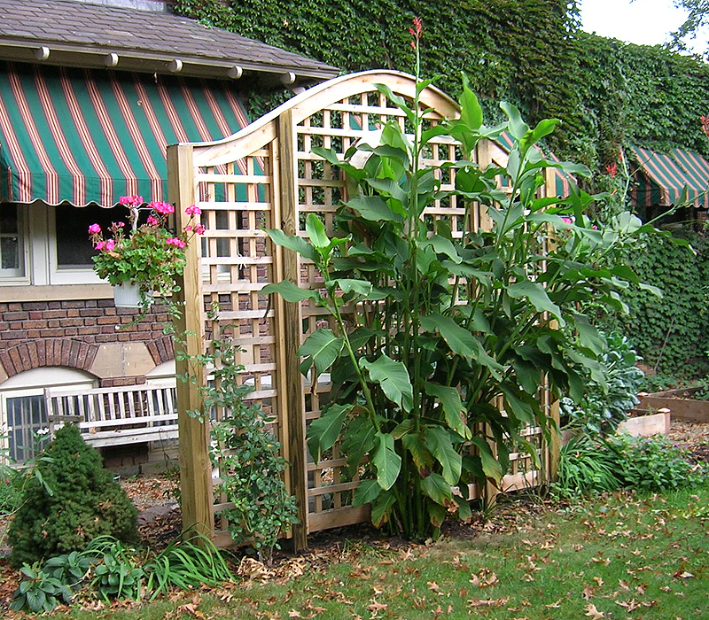 Marvelous Garden Arch Square Lattice Vine Trellis By Elyria Fence