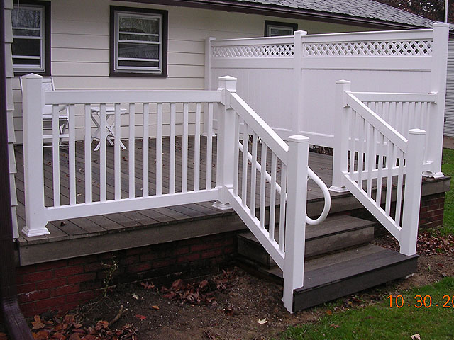 Composite deck composite deck vinyl railing for Composite decking and railing