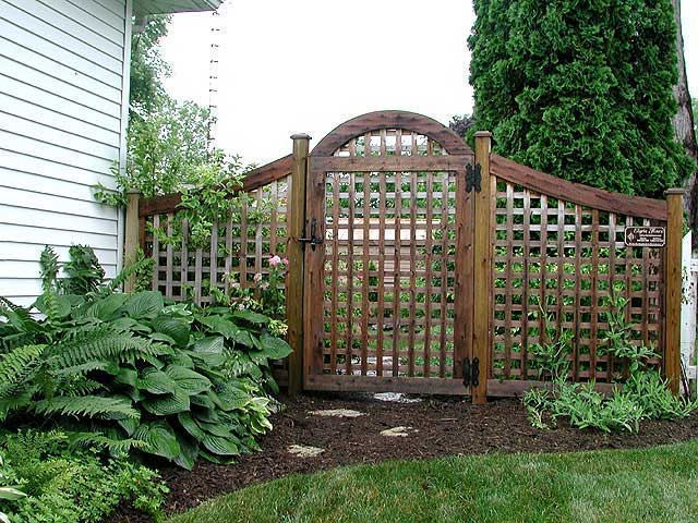 Garden Gates Design Pictures : Good neighbor arched garden square lattice fence and gate