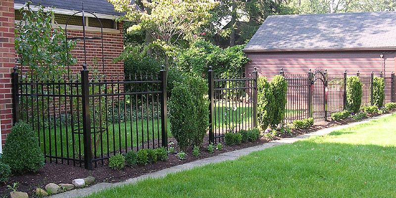 Ornamental Aluminum Fence With Quad Finials By Elyria Fence