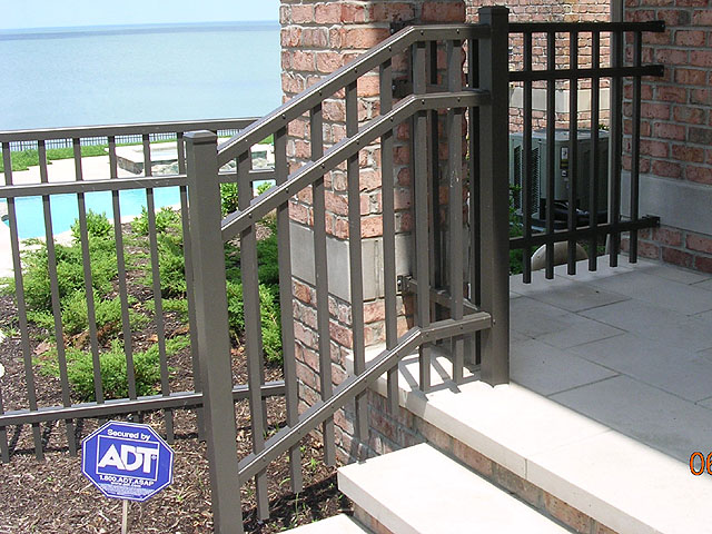 Ornamental aluminum iron railing by elyria fence