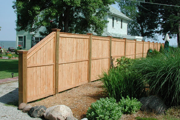 White Cedar Wood Privacy Fence by Elyria Fence