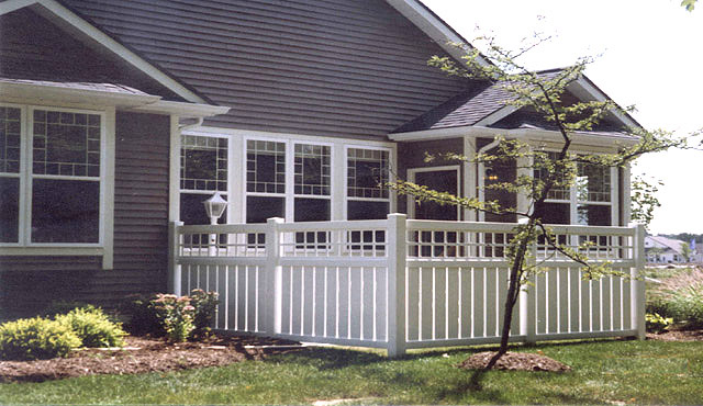 vinyl semiprivate fence with square lattice by elyria fence vinyl semi privacy i51 privacy