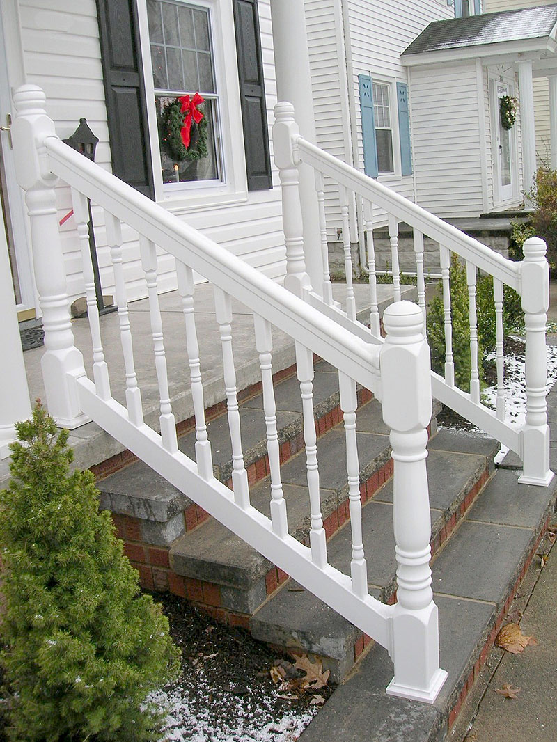 Vinyl Porch Railing With Turned Spindles Amp Turned Posts By