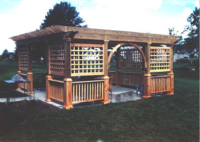 Diy pergola woodworking plans free for Eyebrow pergola plans