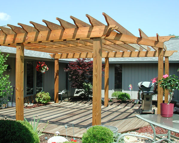 Custom Wood Pergola By Elyria Fence