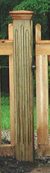 Redwood Post Cap With Routed Post by Elyria Fence