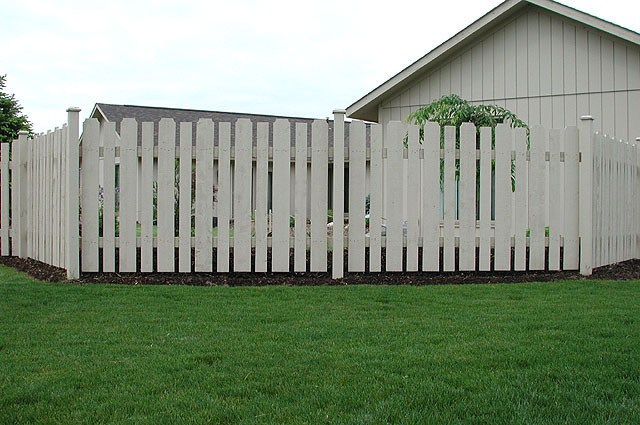 White Cedar Wood Spaced Classic Contemporary Fence by Elyria Fence