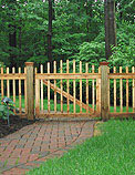 boston picket white cedar wood fence by Elyria Fence