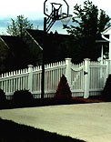 Good Neighbor White Cedar Wood Picket Fence by Elyria Fence