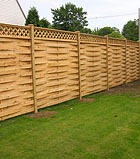 basketweave fence with diagonal lattice by elyria fence