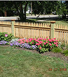 spaced white cedar wood picket fence by elyria fence