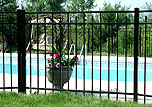 ornamental aluminum iron fence by elyria fence