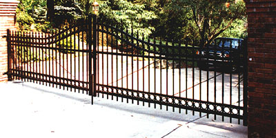 Wrought Iron Gate by Elyria Fence