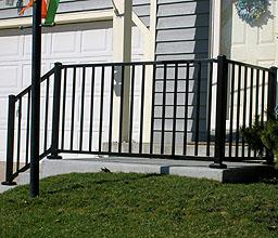 decorative aluminum railing. Ornamental aluminum iron railing by elyria fence Aluminum Railing  Wrought Iron railings and Metal