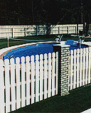 spaced white cedar wooden modern fence by elyria fence