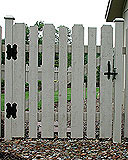spaced white cedar wooden provincial fence by elyria fence