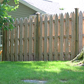 Fencing wood privacy, shadowbox, board installation Wright Fence