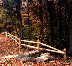 Two Rail Split Rail Fence By Elyria Fence