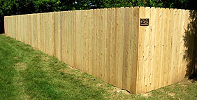 Solid Privacy White Cedar Wood Fence