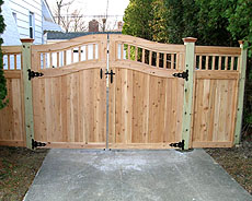 Wood Privacy Gate by Elyria Fence