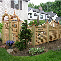 Remodeler of the Year Winning Design, Arched & Scalloped Square Lattice Wood Fence