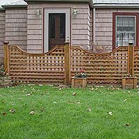 Scalloped Square Lattice Fence by Elyria Fence